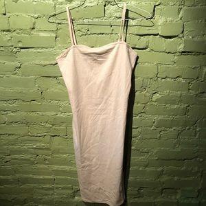 Topshop tube dress slip base layer cream M